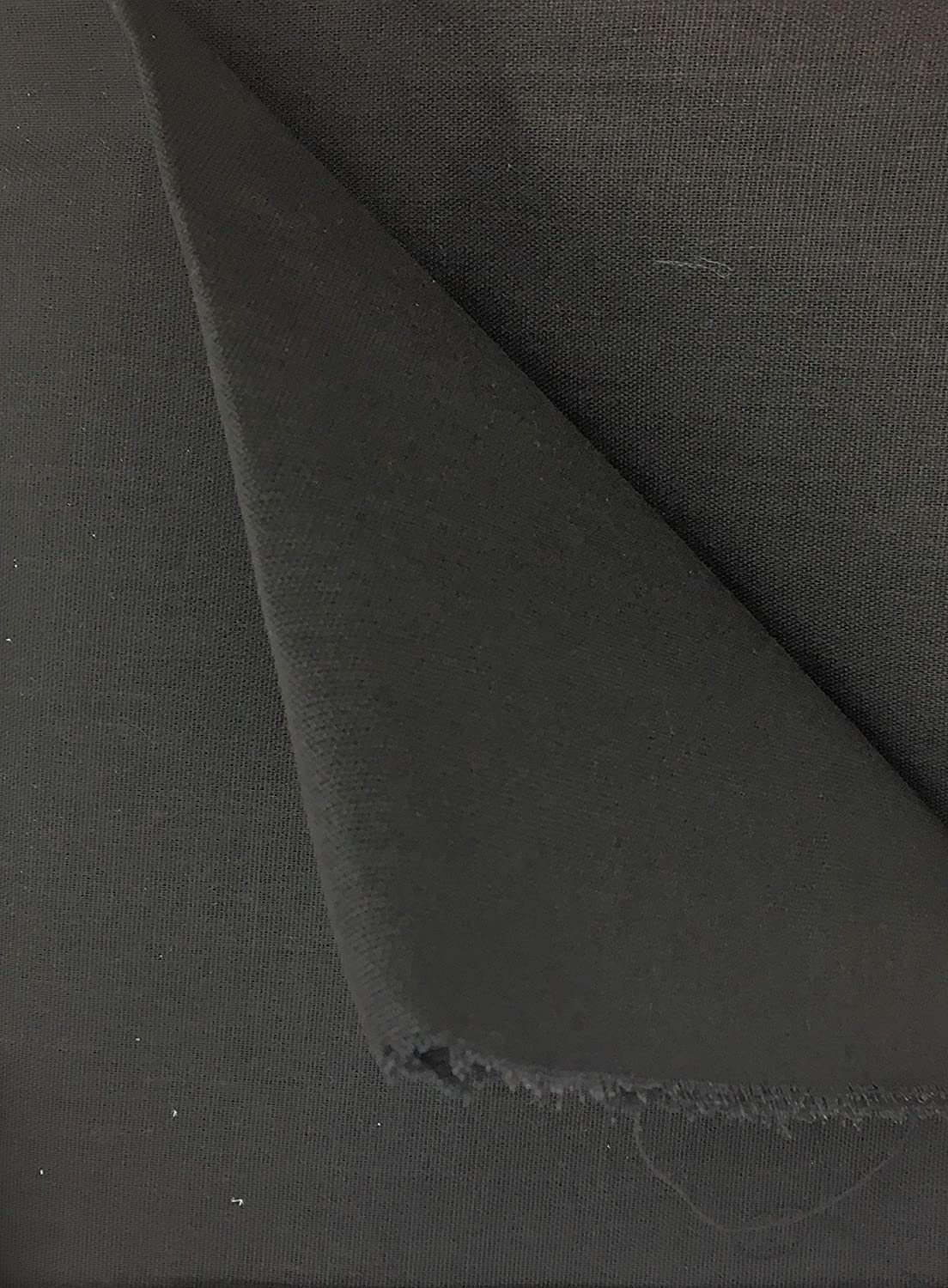 2 Yards x 58 Sew on Stiff Woven Black Buckram INTERFACING Medium Weight