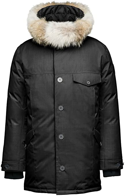 Nobis Johan Long Parka - Men's -Black-X-Small