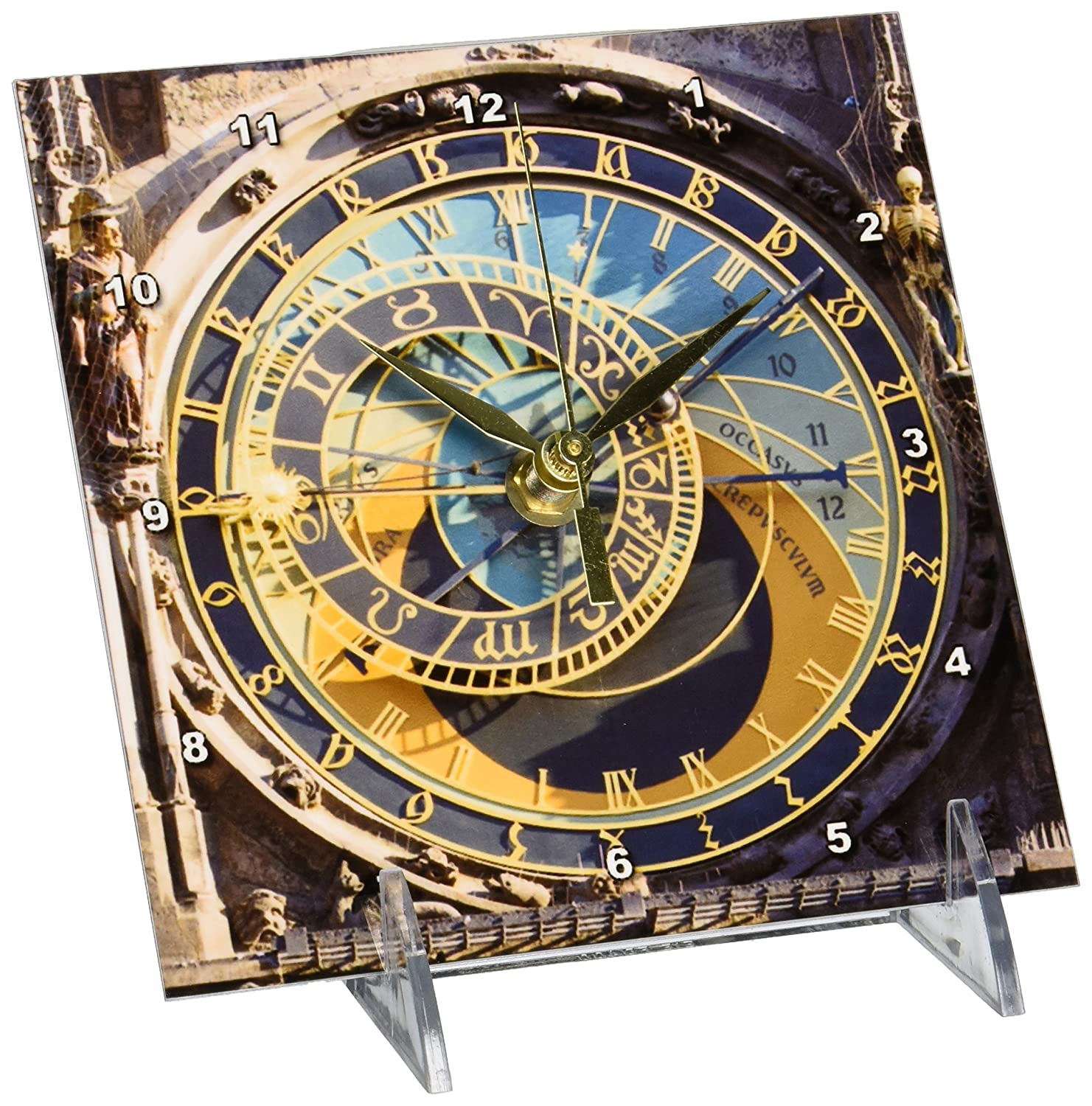 Amazon.com: 3dRose Danita Delimont - Clock Towers - Astronomical Clock, Orloj, Prague, Czech Republic - EU06 THA0021 - Tom Haseltine - 6x6 Desk Clock ...