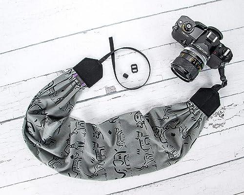 Doodles dSLR Camera Strap Black and White