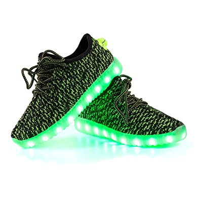 Shinmax LED Shoes 7 Colors LED USB Rechargable Light Up Shoes of Unisex Men  and Women 1cf227e9ff06