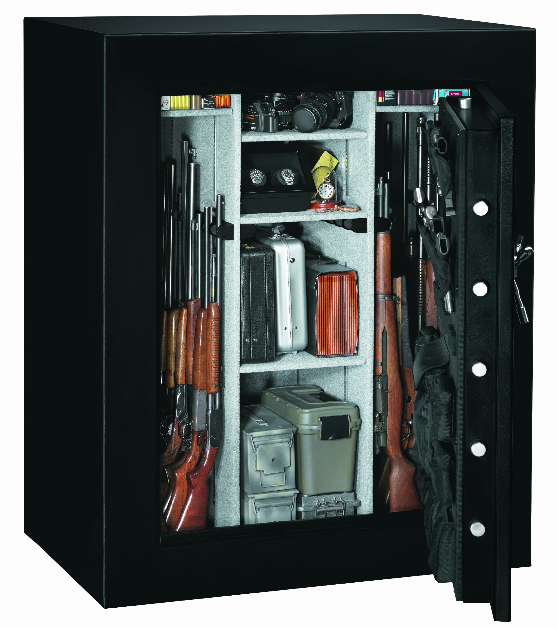 Stack-On E-66-MB-E-S Elite 66 Gun Security Safe with Door Storage, Electronic Lock, Matte Black by Stack-On (Image #2)