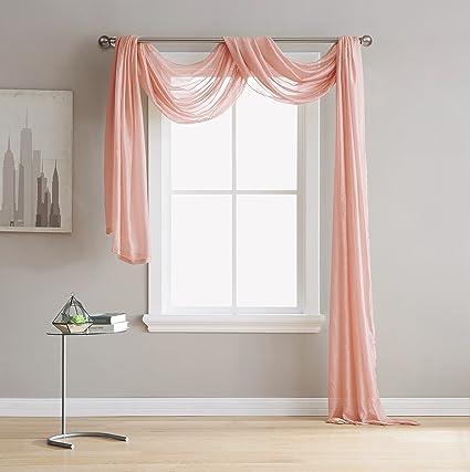 LinenZone Karina   Semi Sheer Window Scarf (54 X 216)   Elegant Home