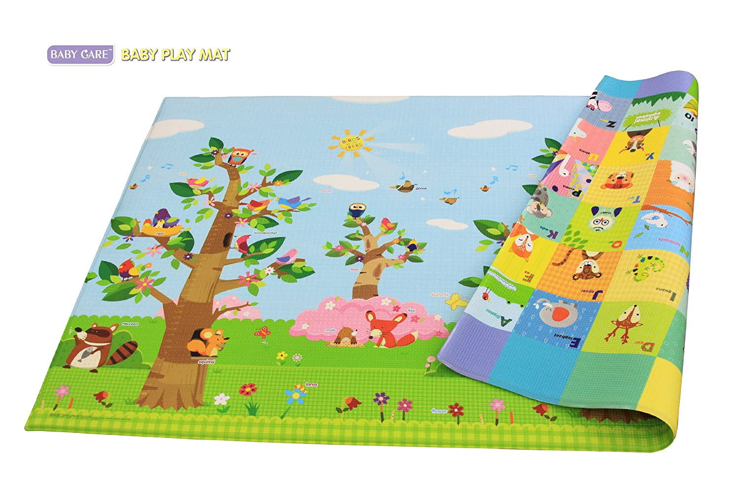 amazoncom baby care play mat  birds on the trees (large) home  - amazoncom baby care play mat  birds on the trees (large) home  kitchen