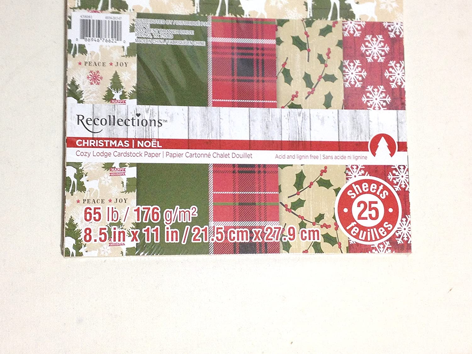 Amazon.com : Recollections Christmas Holiday Cozy Lodge Cardstock ...