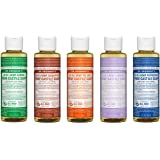Dr. Bronner's 4 oz. Sampler- 5 Piece Gift Set. (5) 4 oz. Castile Liquid Soaps in Almond, Eucalyptus, Tea Tree, Lavender, and Peppermint
