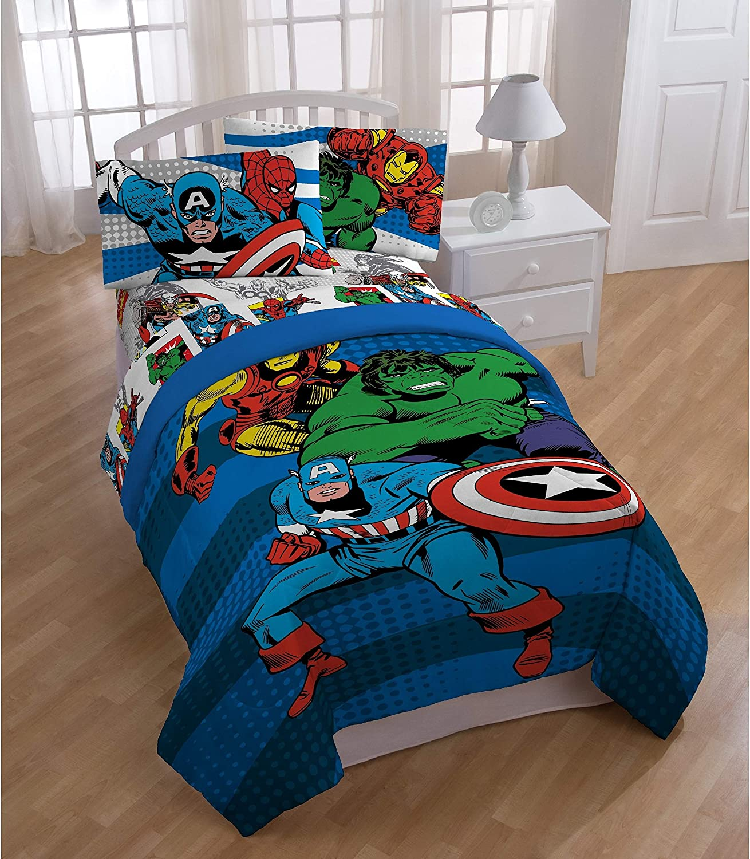Amazon.com: Avengers Marvel Comics Red & Blue Boys Twin Comforter