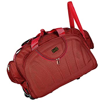 Alfisha Polyester Red Lightweight Waterproof Luggage Travel Duffel ... 75052f6993