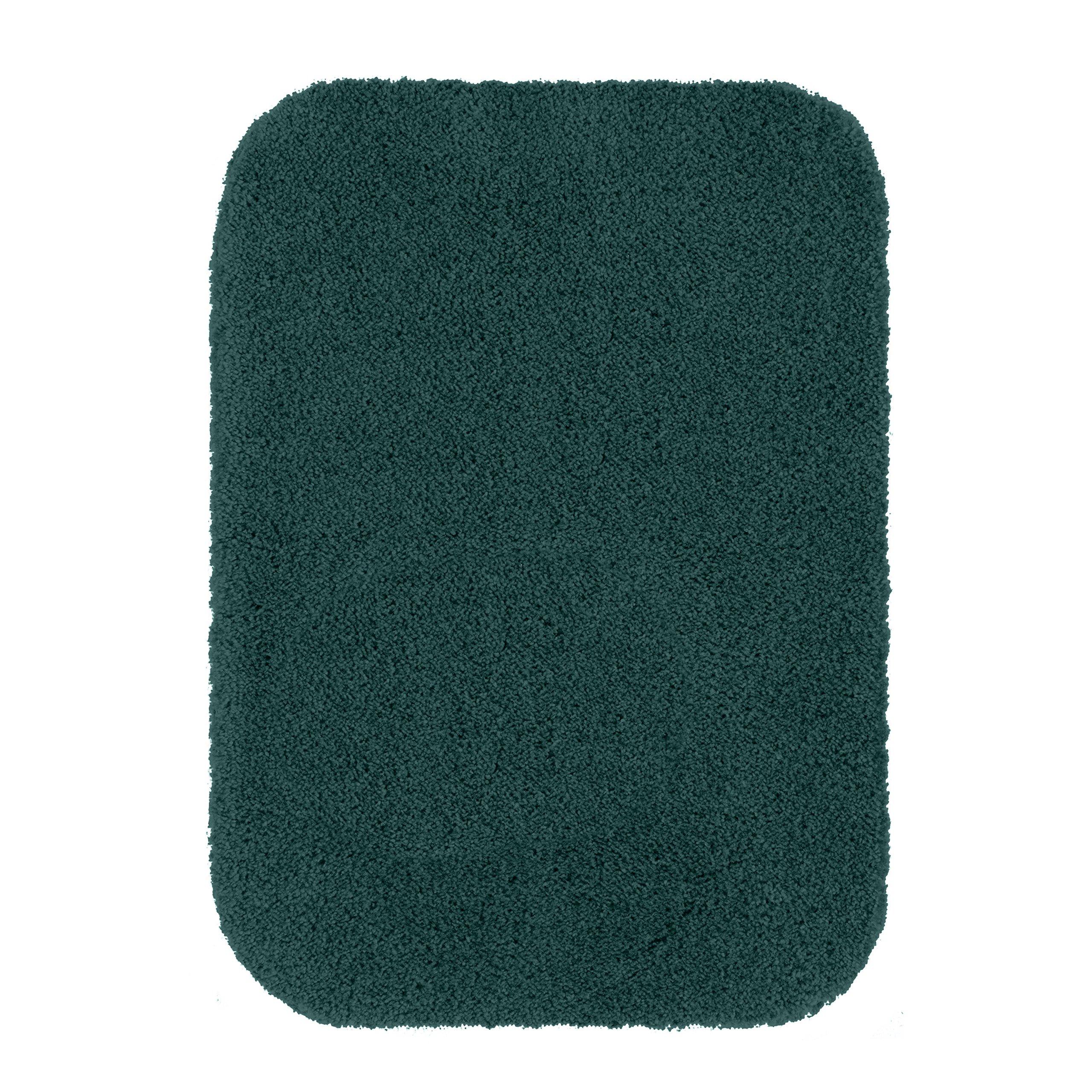 Maples Rugs Bathroom Rugs - Cloud Bath 17'' x 24'' Washable Non Slip Bath Mat [Made in USA] for Kitchen, Shower, and Bathroom, Teal Quartz
