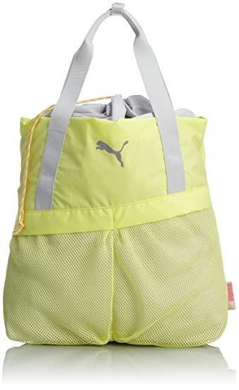 PUMA Damen Sporttasche Gym Shopper, Sunny Lime-Glacier Gray-Fluo ...