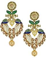 Zaveri Pearls Drop Earrings for Women (Multi-Colour)(ZPFK5454)