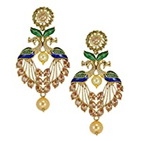 Zaveri Pearls Drop Earrings for Women (Multi-Colour)(ZPFK5454)