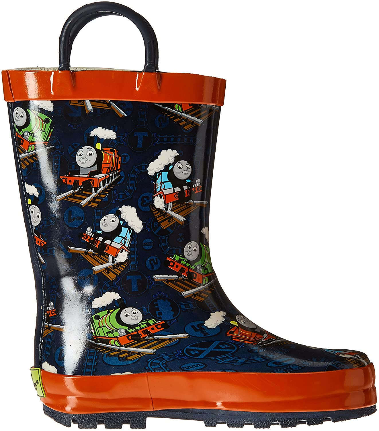 Nickelodeon Kids Waterproof Thomas and Friends Character Rain Boots with Easy on Handles 5 M US Toddler 6510031B