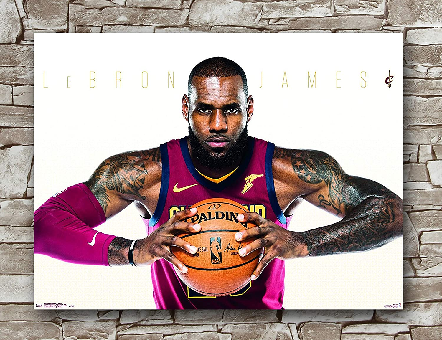 Huawuque Cleveland Cavaliers Lebron James Poster Standard Size | 18-Inches by 24-Inches |Lebron James Posters Wall Poster Print