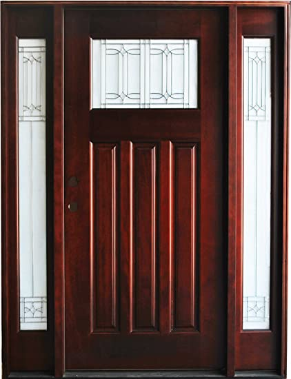 Exterior Mahogany Front Wood Entry Door M31