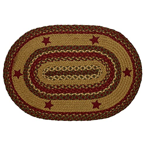 IHF Rugs Cinnamon Star Oval Braided Rug – 4×6