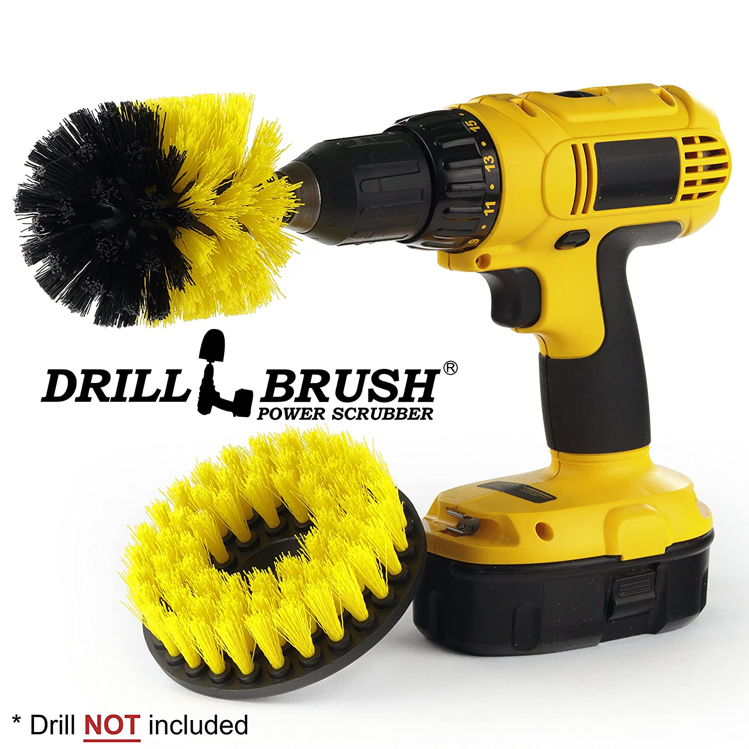 Shower, Tub, and Tile Power Scrubber Brush Drillbrush TUY-OBY-COMBO