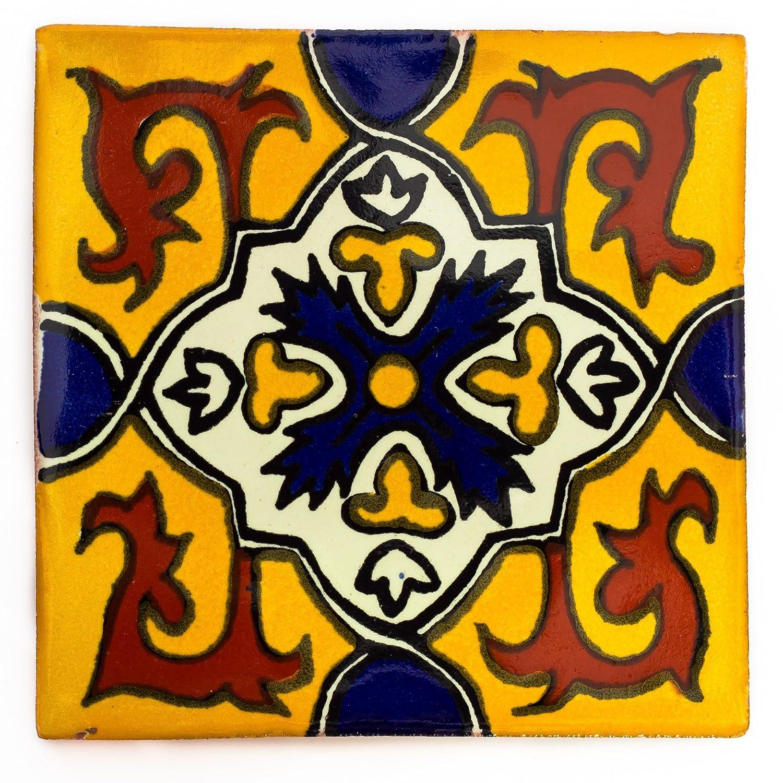 Azulejos Mexicanos Artesanales de Talavera de 5cm - Azulejo individual Tumia LAC