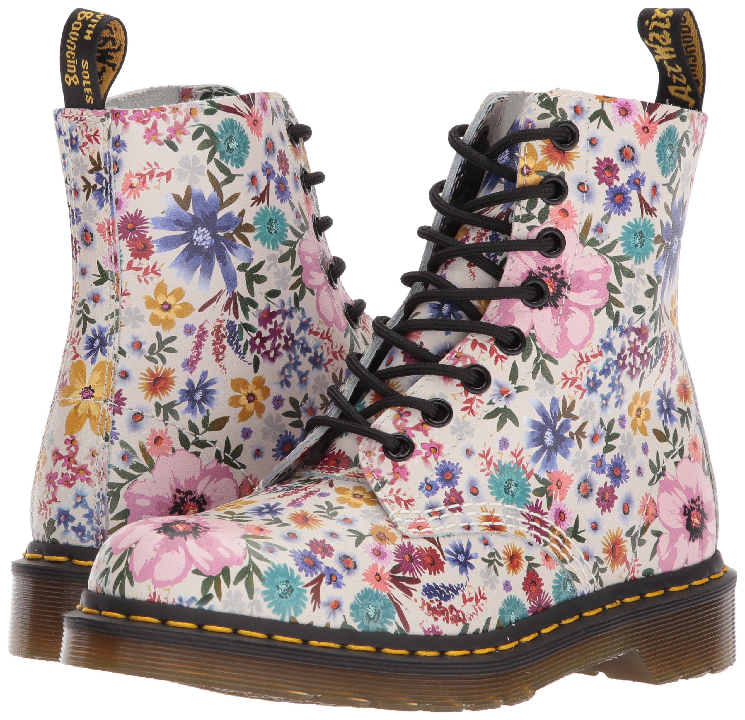 dr martens black & pink pascal wanderlust boots