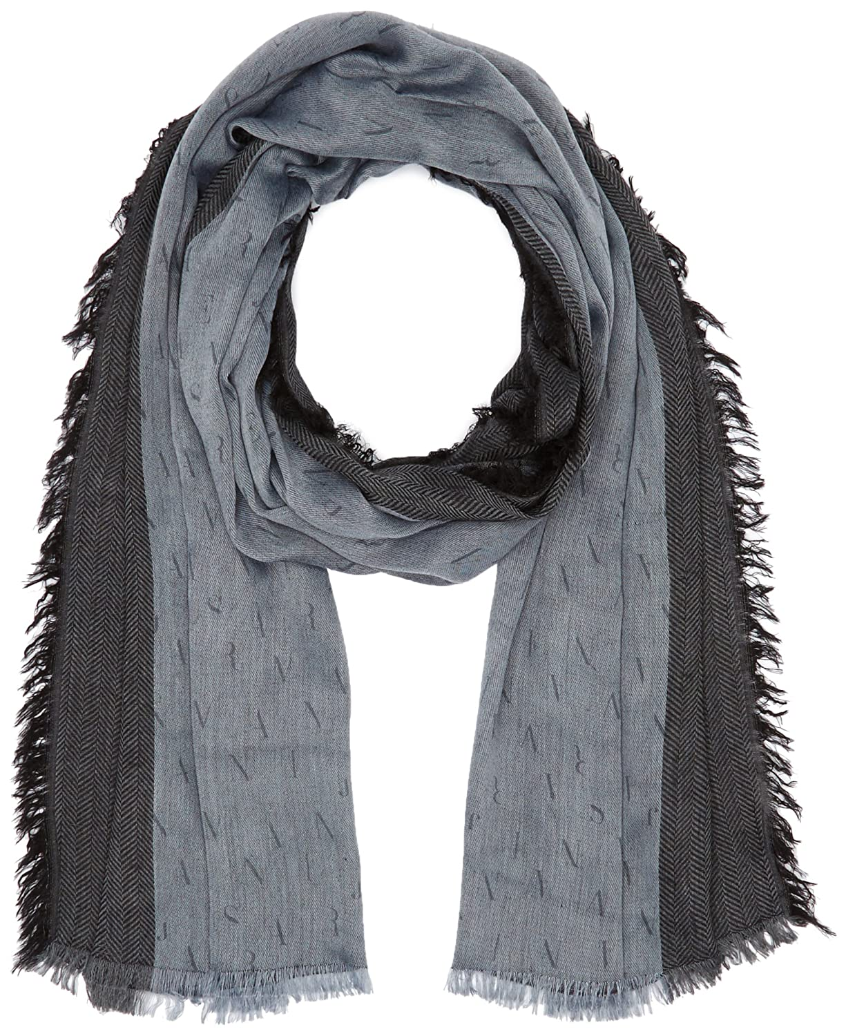Armani Jeans Men's All Over Eagle Print Scarf Frost Grey One Size Armani Jeans Men' s Accessories 934022-6A713