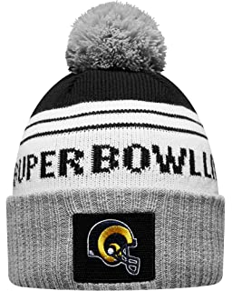 timeless design 76847 59414 New Era Los Angeles Rams Heather Gray Super Bowl LIII Bound Striped Knit Hat