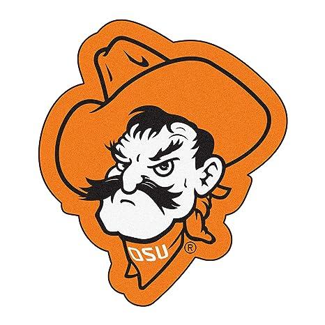 0414caba3e001 FANMATS NCAA Oklahoma State University Cowboys Nylon Face Mascot Rug