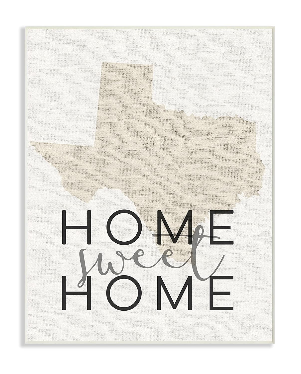 The Stupell Home D/écor Collection Sweet Home Texas Typography Oversized Framed Giclee Texturized Art 16 x 20