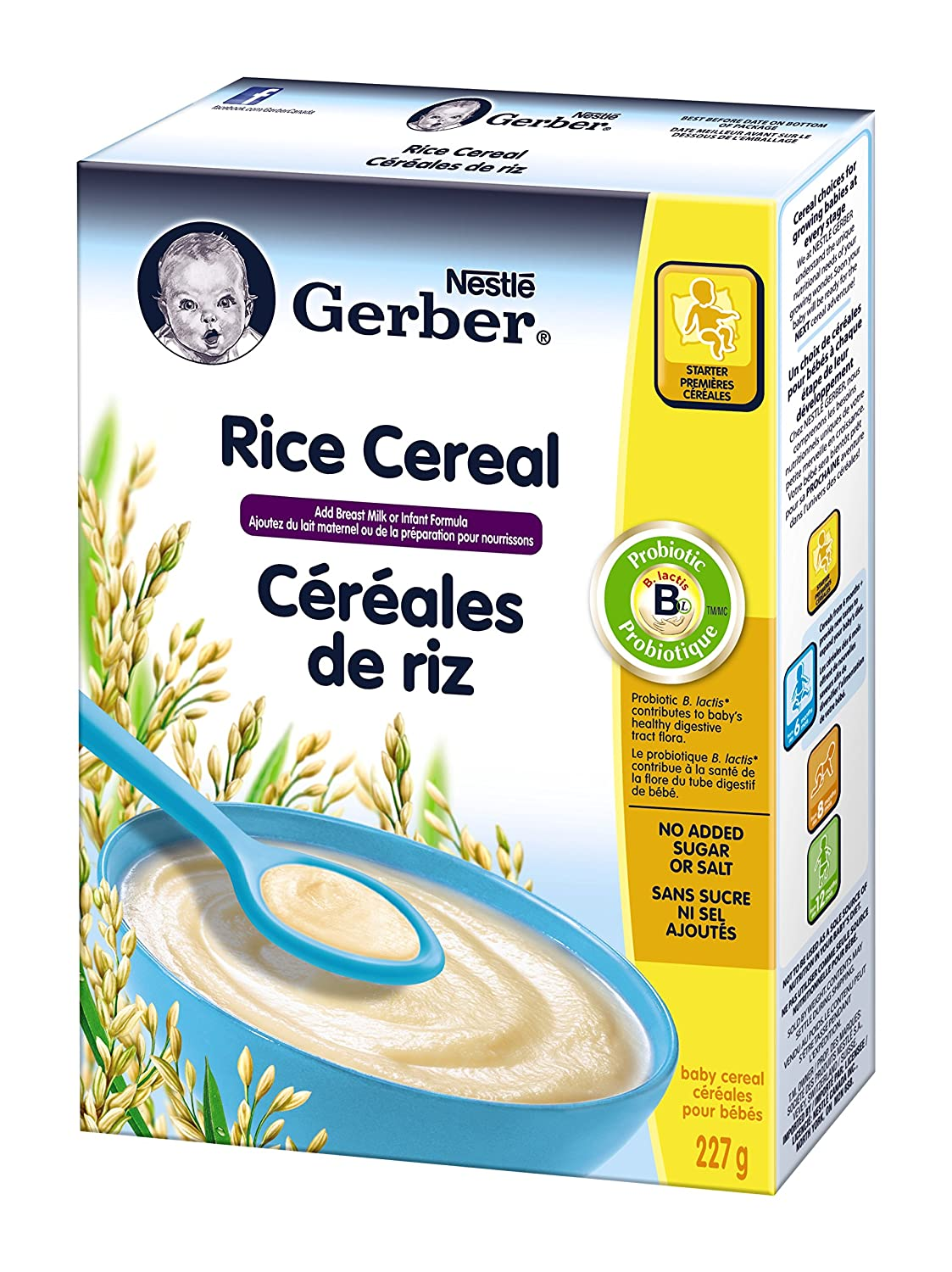Gerber Rice Cereal Standard, Stage 1, 227g box (6 pack) Nestlé