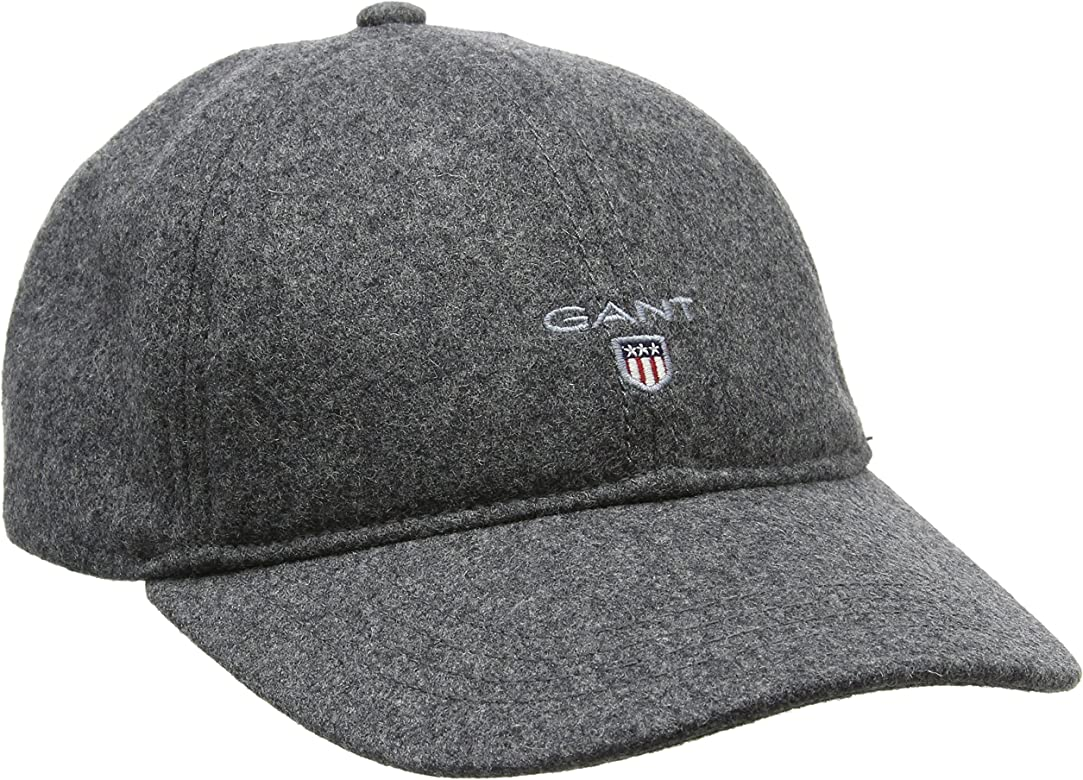 Gant Melton Cap Gorra de béisbol, Gris (Charcoal Melange), Talla ...