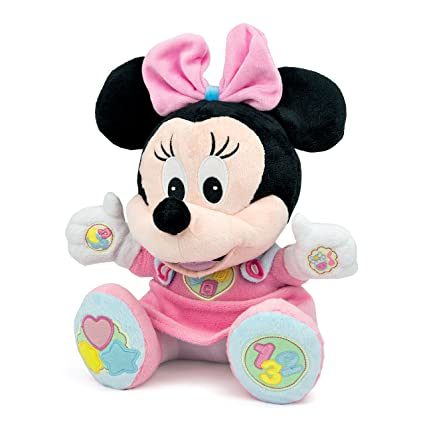 Clementoni Disney Baby Minnie Soft Talking Cuddly Plush Toy