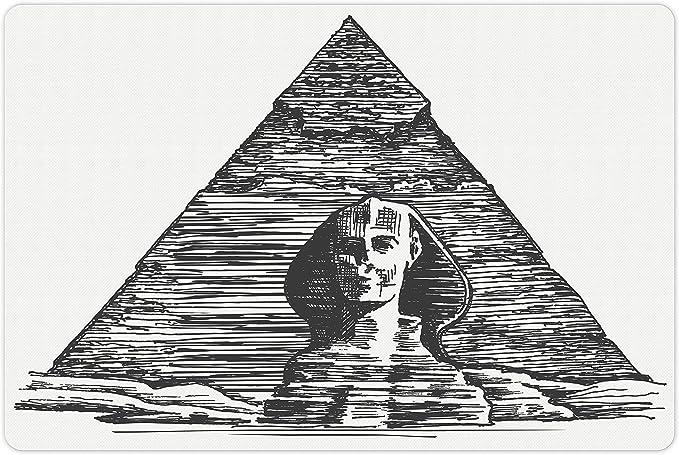 "WHITE LEAVES rectangle nonskid back MS EGYPTIAN PRINTED RUG 18/""x30/"""