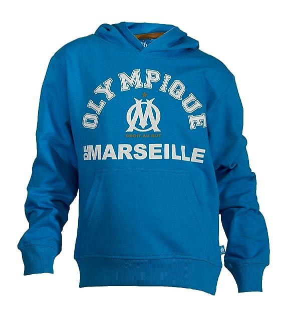 Sudadera con capucha oficial del club DE fútbol OLYMPIQUE DE MARSEILLE-Balón DE fútbol,