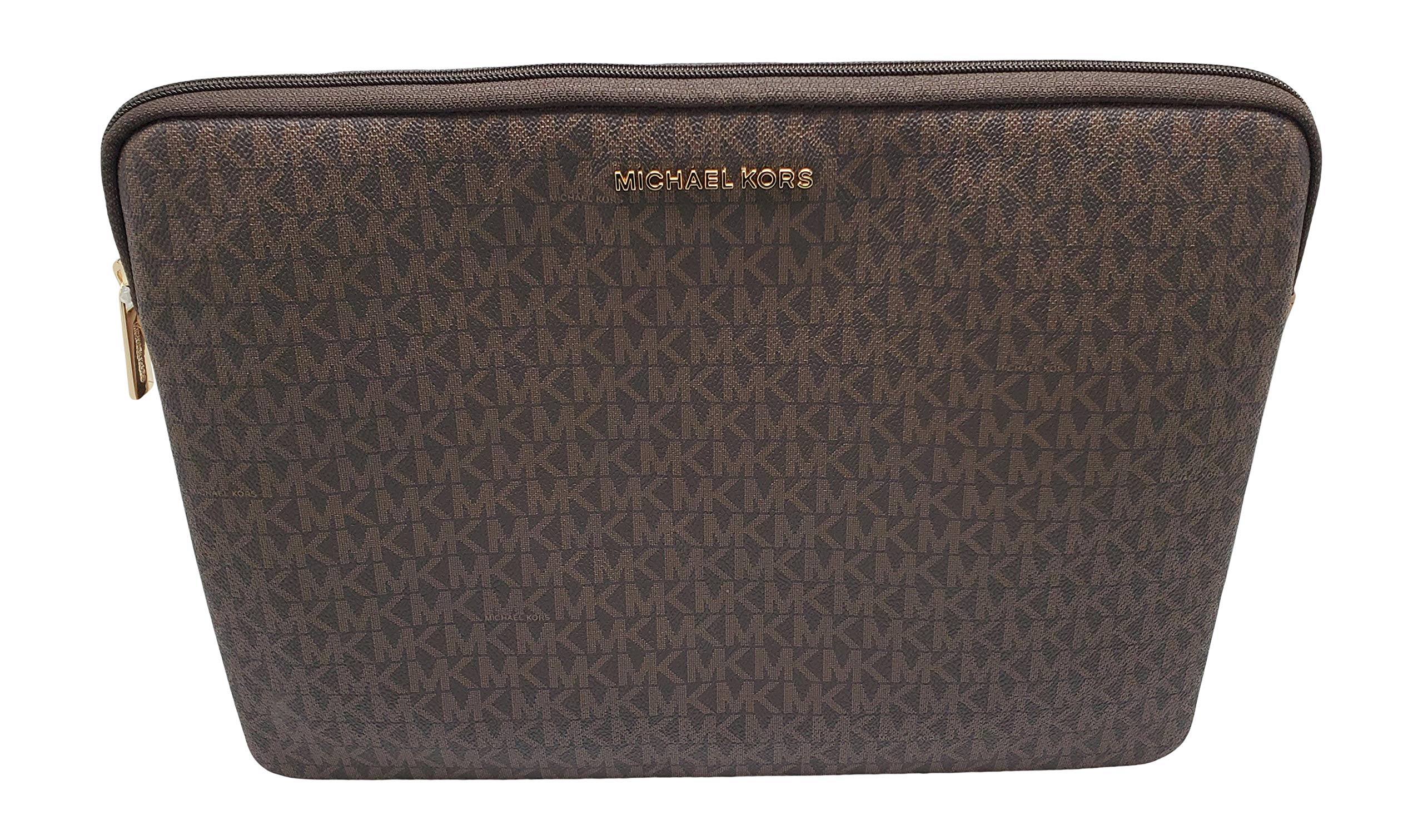 Michael Kors Connie Padded Laptop Case Up to 15'' Brown/Acorn