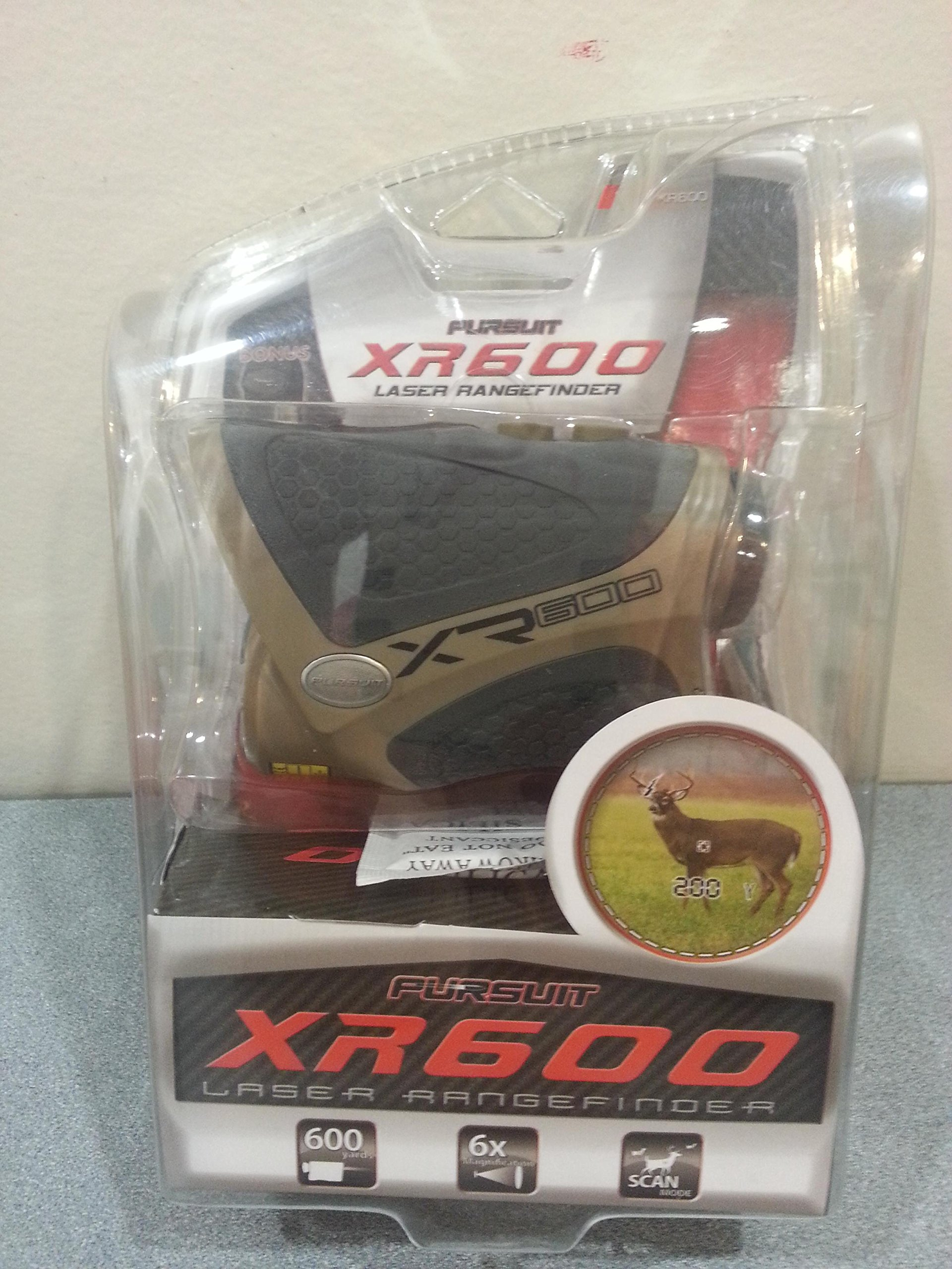 Pursuit Laser Range Finder XR600 Hunting Golf 600 Yard Magnification by Pursuit