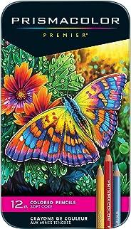 Prismacolor 3596T  Premier Colored Pencils, Soft Core, 12 Count