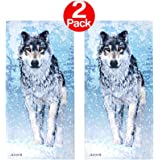 KAUFMAN - Snow Wolf Printed Beach Towel (106043) - 2 Pack Set