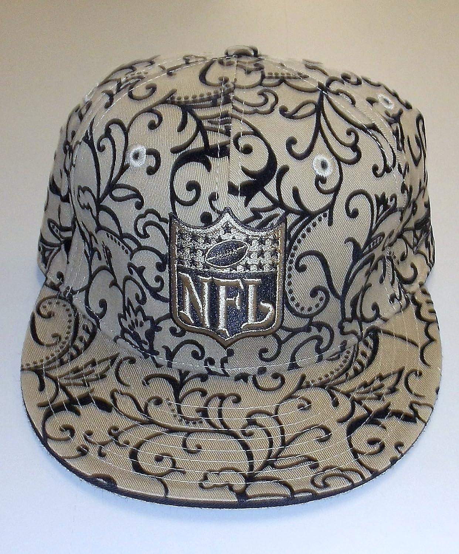 NFLロゴFitted Flat Bill Flockedデザイン帽子 8  B00405MLJY