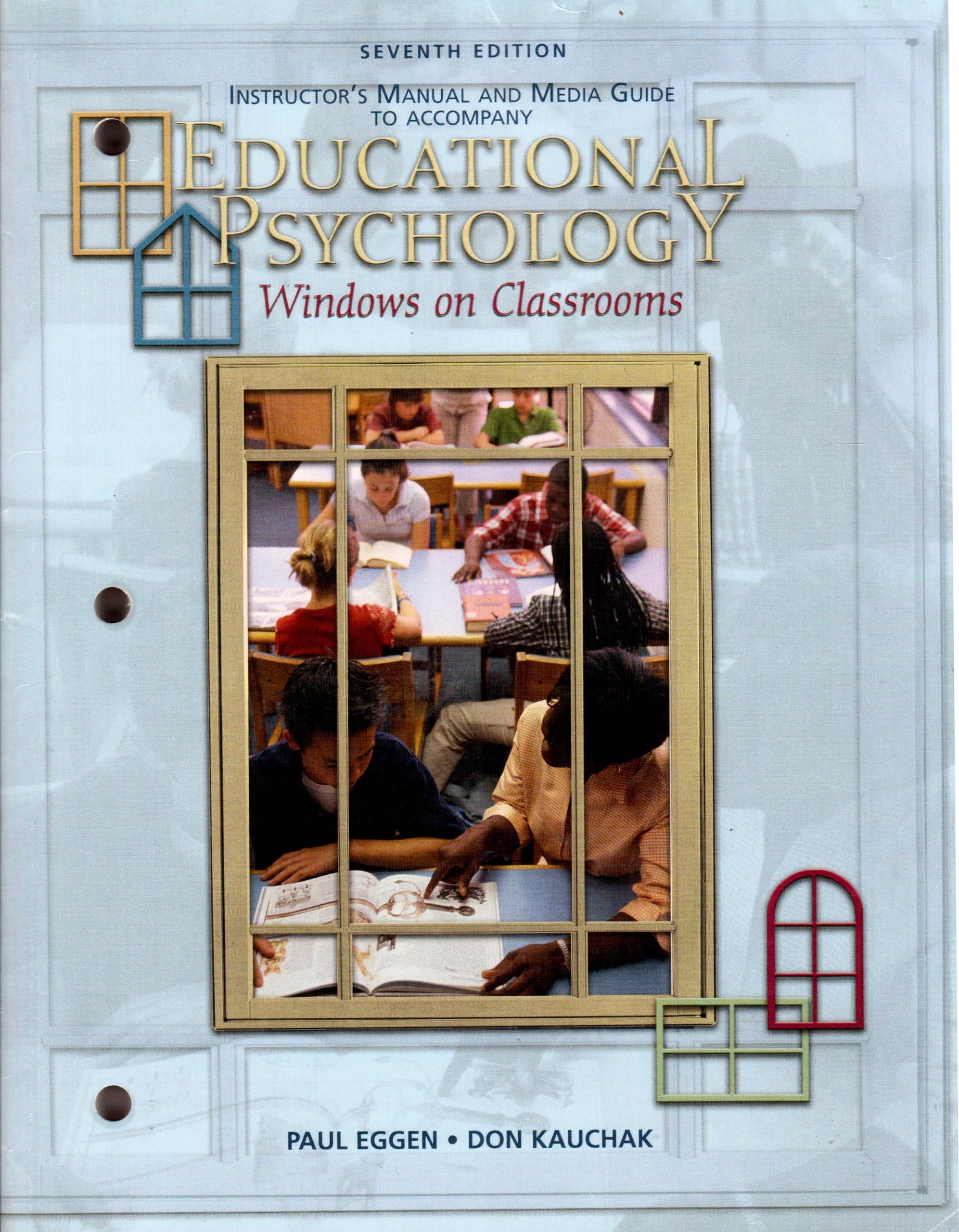 Read Online Instructors Manual and Media Guide to Accompany Educational Psychology Windows on Classrooms PDF