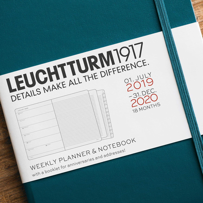 Agenda y cuaderno 2020, tapa dura, A5, 18 meses, color baya ...