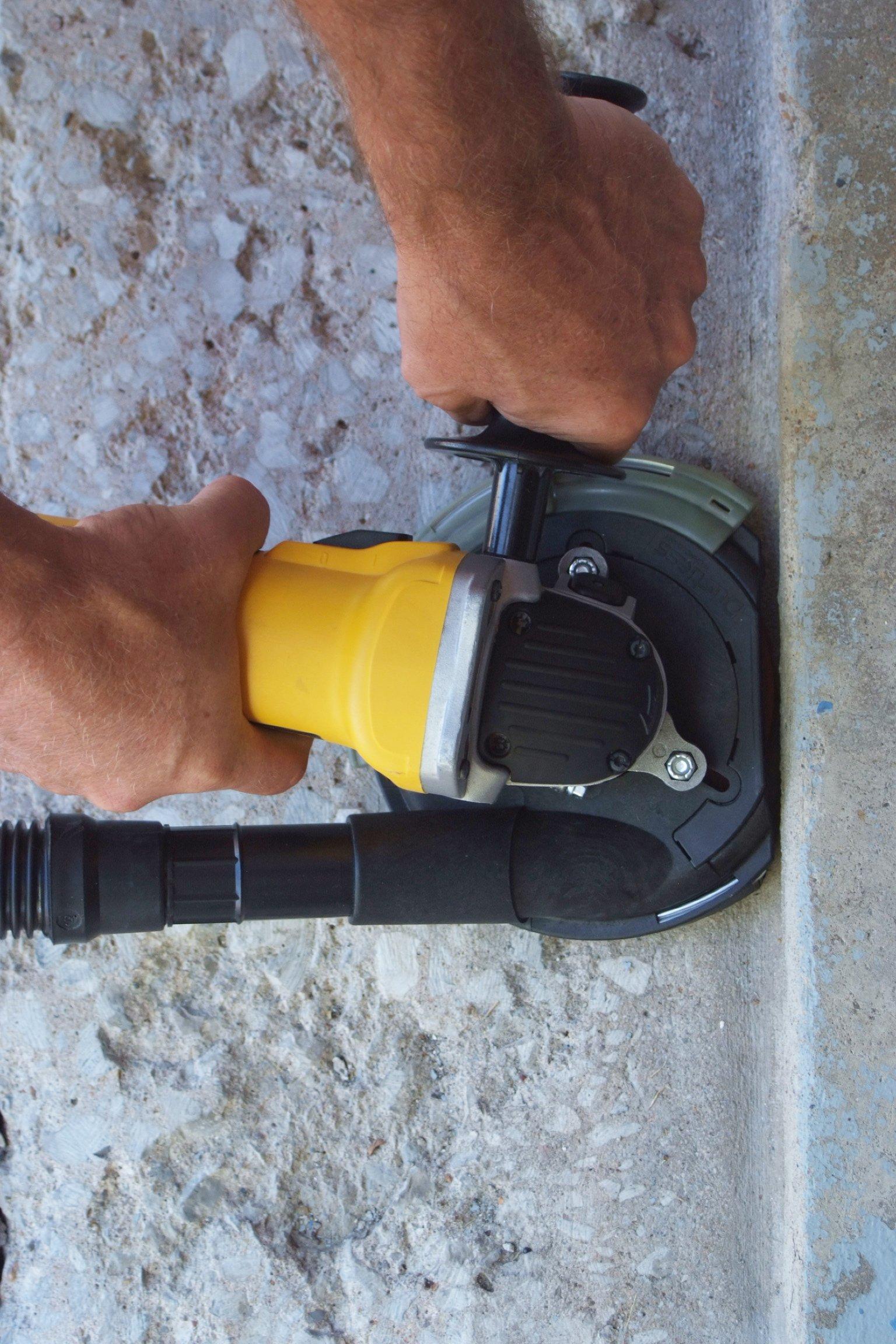 Dustless Technologies D5850 Dust Buddie XP Universal Dust Control Attachment for Grinders, 7'', Black/Gray by Dustless Technologies (Image #5)