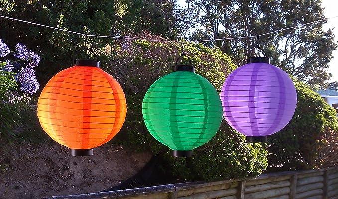 purple green yellow chinese lanterns set nylon lamp for outdoor