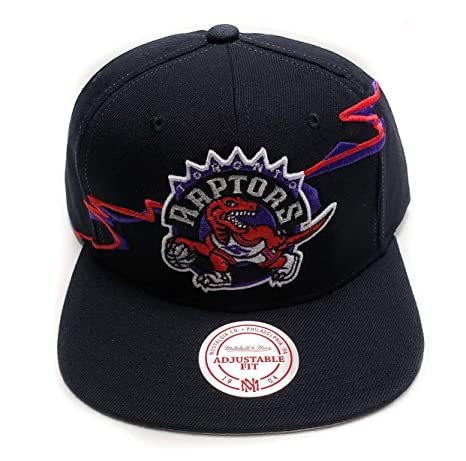 3815a0666fd Mitchell   Ness Toronto Raptors Current Black HWC Vintage Solid Wool  Classic Adjustable Snapback Hat NFL  Amazon.ca  Sports   Outdoors