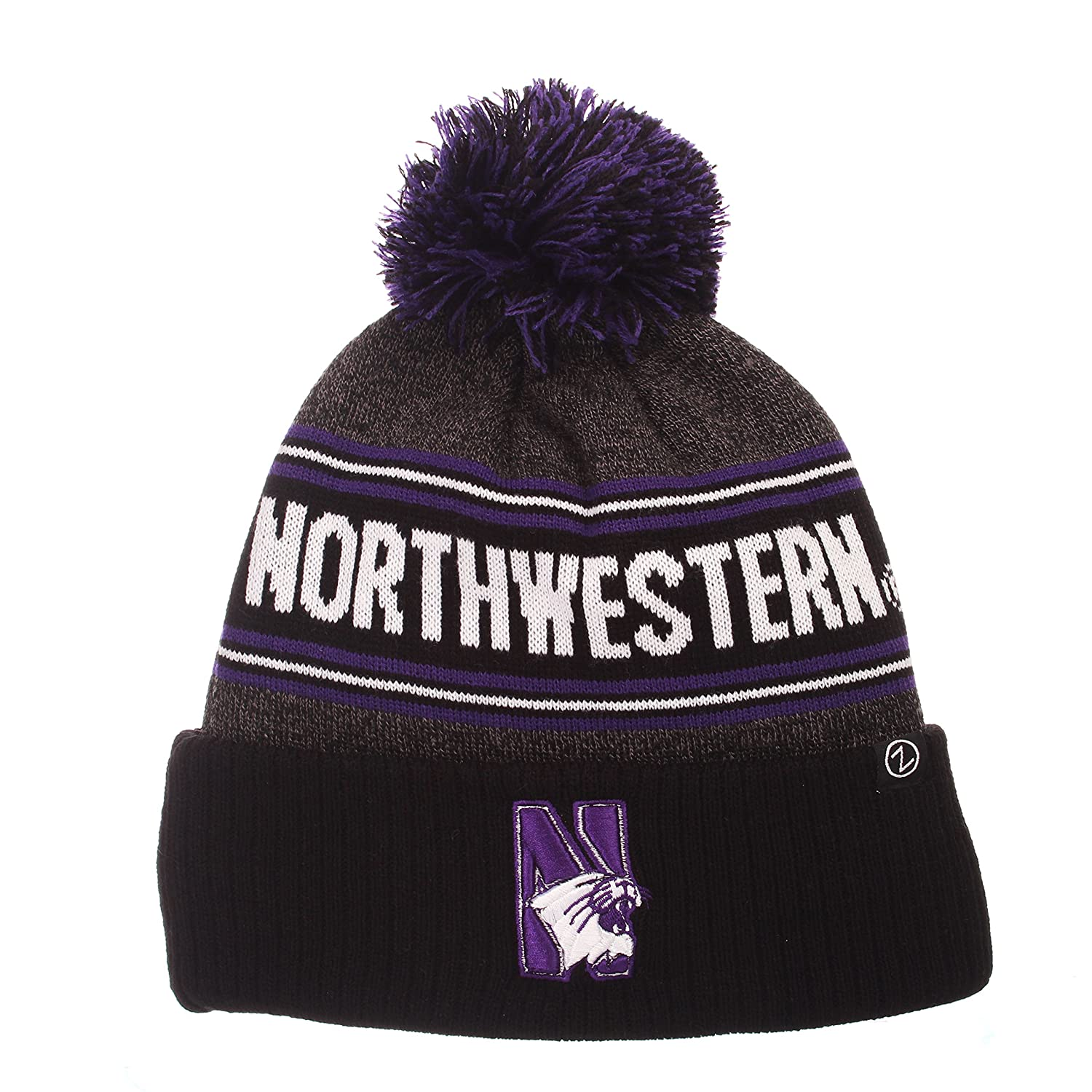 689e51e95 Amazon.com   NCAA Northwestern Wildcats Men s End Zone Knit Beanie ...