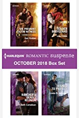 Harlequin Romantic Suspense October 2018 Box Set: The Pregnant Colton Witness\Rancher's Deadly Reunion\Soldier Bodyguard\Trained to Protect Kindle Edition