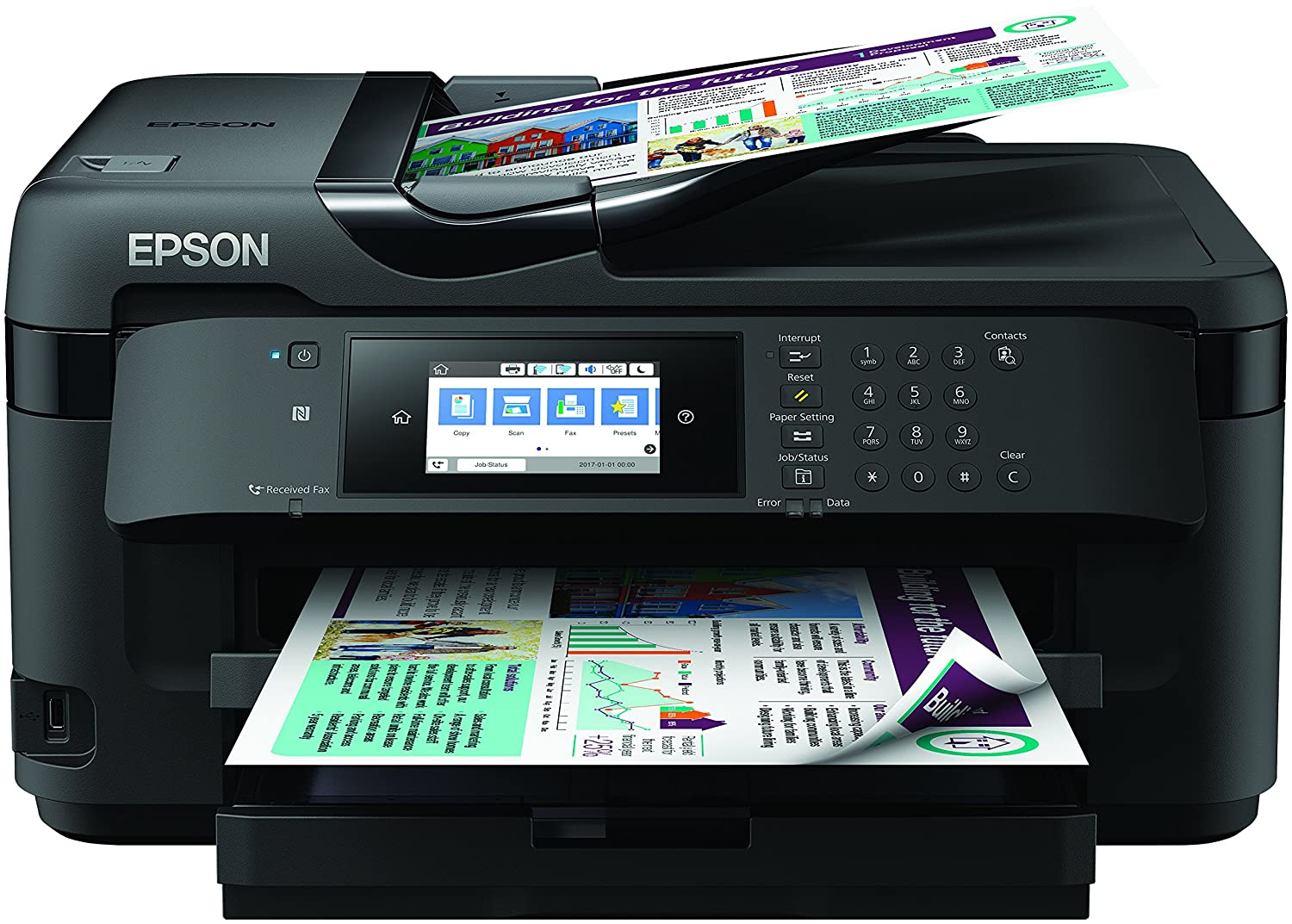 Epson WorkForce WF 7710DWF A3 Wi Fi Printer, Scan And Copier With Fax