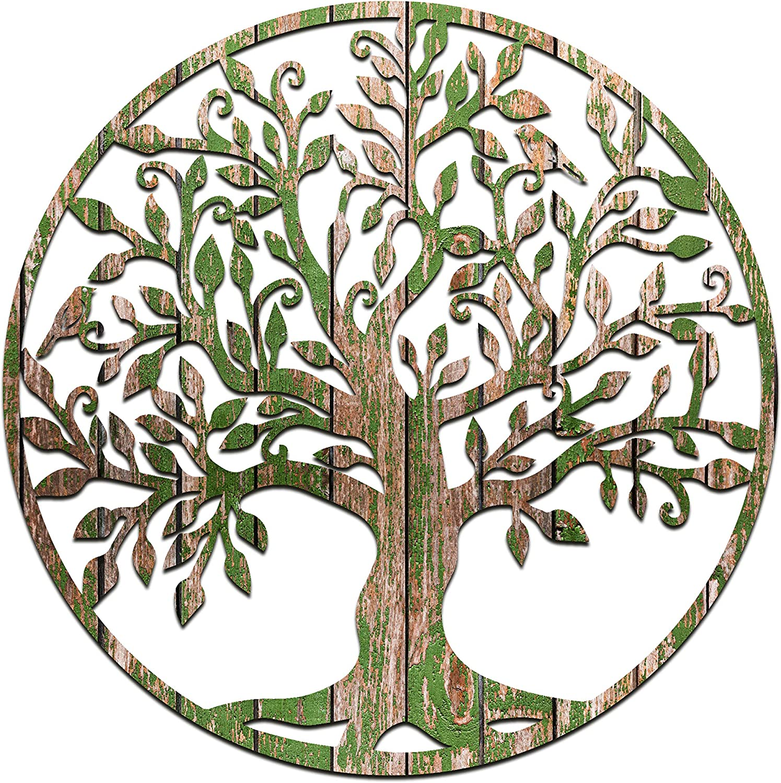 Venovez (Metal-Wood) Wall Art, Tree Of Life Wall Decor, Wall Hanging, Wall Decor Tree Of Life , Nautical Wall Tree,