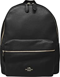 Amazon coach stores coach charlie pebble leather backpack f38288 reheart Image collections
