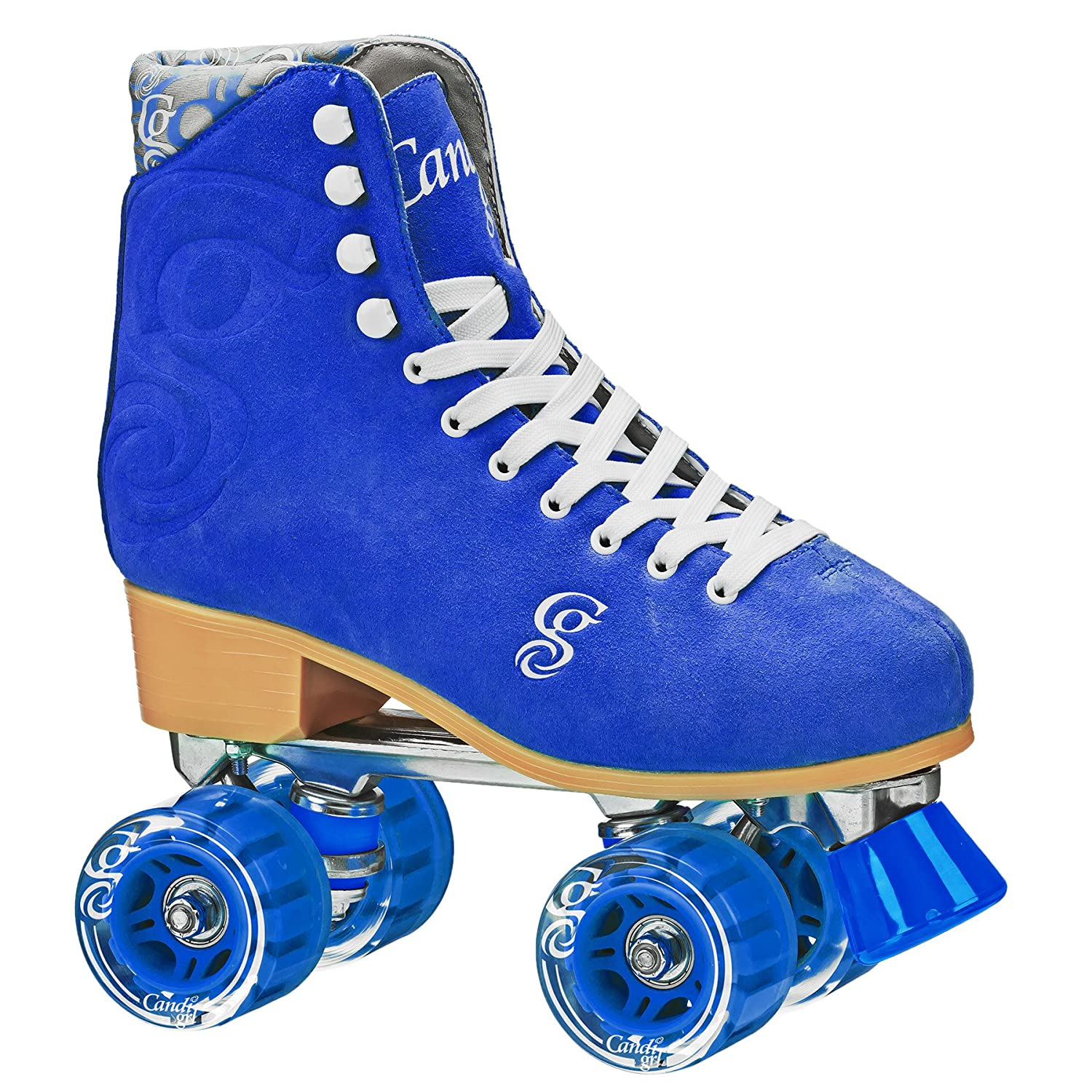 Roller derby rollerskate in blue