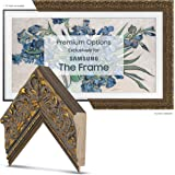 "Deco TV Frames - Tuscan Gold Frame Custom for Any Size Samsung The Frame TV (6"" Corner Sample)"
