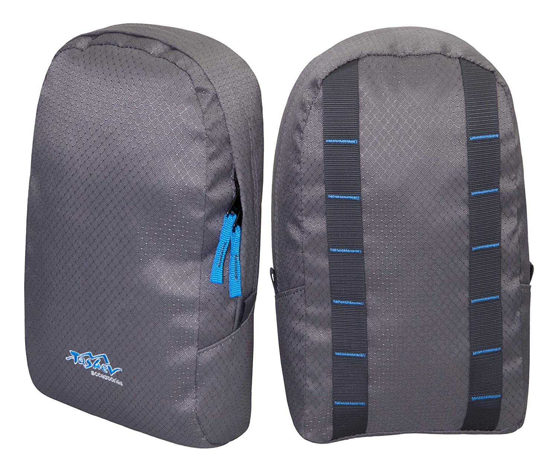 TASHEV universelle Rucksack Seitentaschen Extrataschen Zusatztaschen (Grau & Blau)